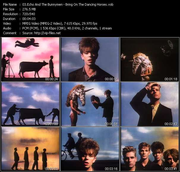 Echo And The Bunnymen HQ Videoclip «Bring On The Dancing Horses»