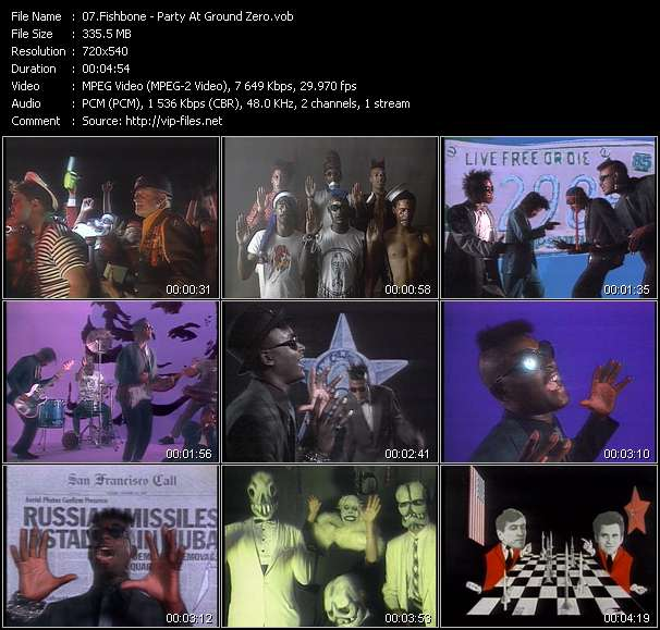 Fishbone HQ Videoclip «Party At Ground Zero»