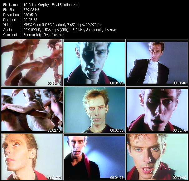 Peter Murphy video - Final Solution