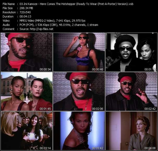 Ini Kamoze video - Here Comes The Hotstepper (Ready To Wear (Pret-A-Porter) Version)