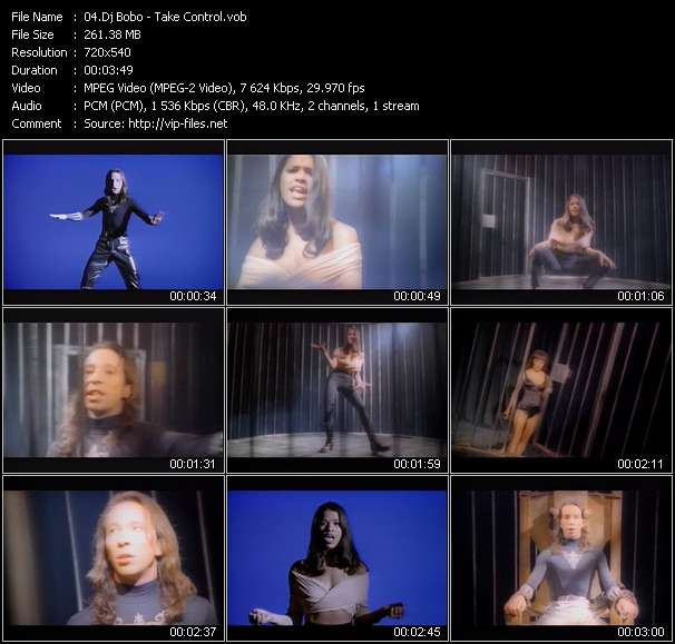 Dj Bobo video - Take Control