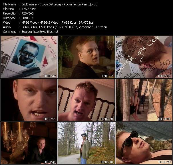 Erasure video - I Love Saturday (Rockamerica Remix)