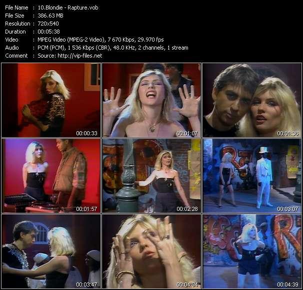Blondie video - Rapture