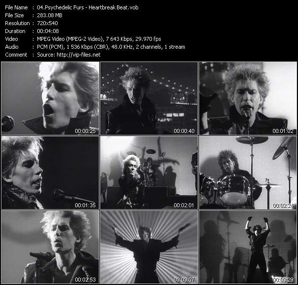 Psychedelic Furs HQ Videoclip «Heartbreak Beat»