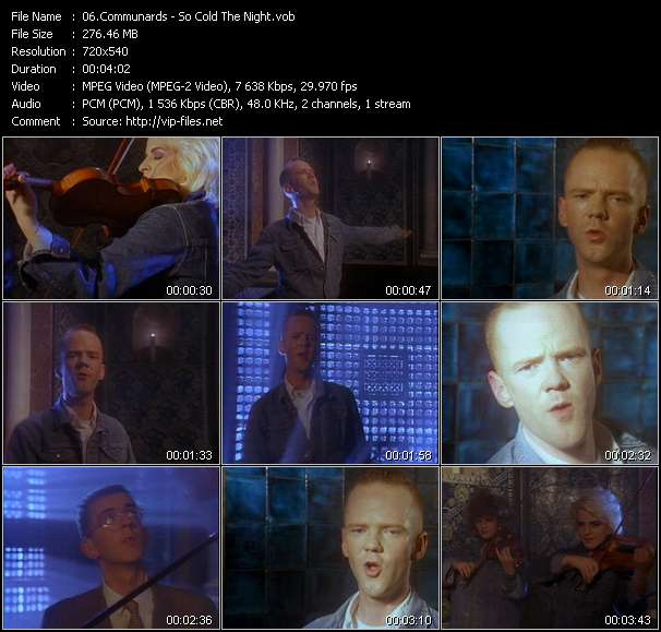 Communards HQ Videoclip «So Cold The Night»