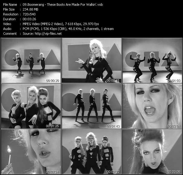 Boomerang HQ Videoclip «These Boots Are Made For Walkin'»