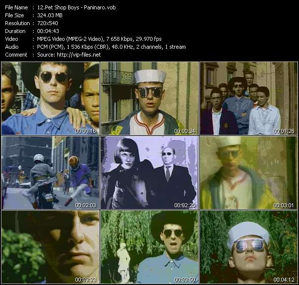 Pet Shop Boys HQ Videoclip «Paninaro»