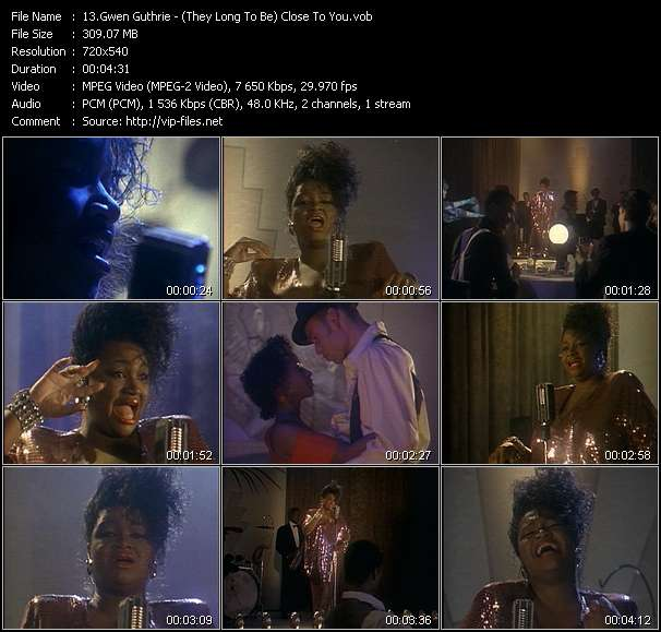 Gwen Guthrie HQ Videoclip «(They Long To Be) Close To You»