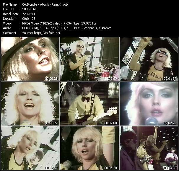 Blondie video - Atomic (Remix)