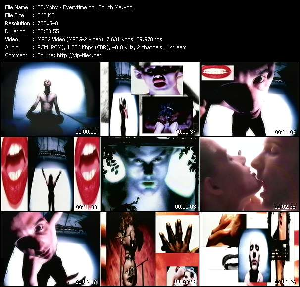 Moby video - Everytime You Touch Me