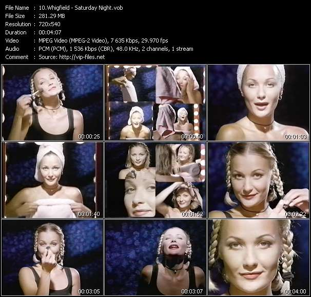 Whigfield video - Saturday Night