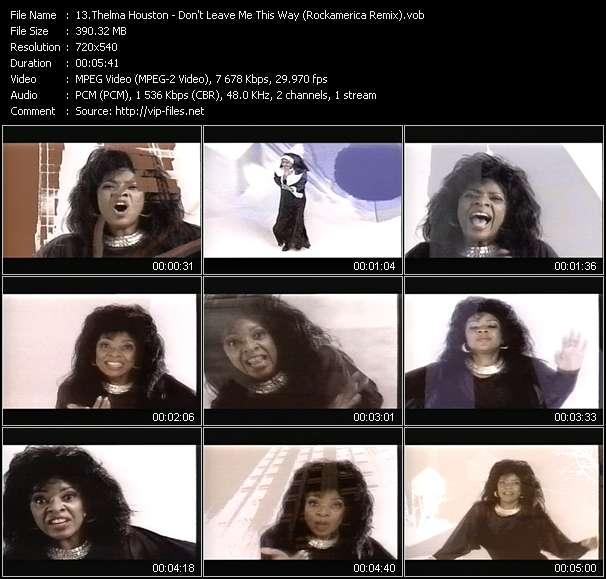 Thelma Houston video - Don't Leave Me This Way (Rockamerica Remix)
