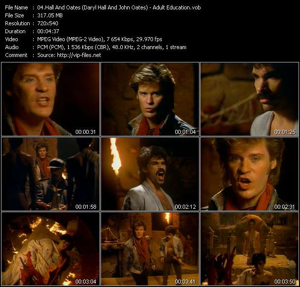 Hall And Oates (Daryl Hall And John Oates) video - Adult Education