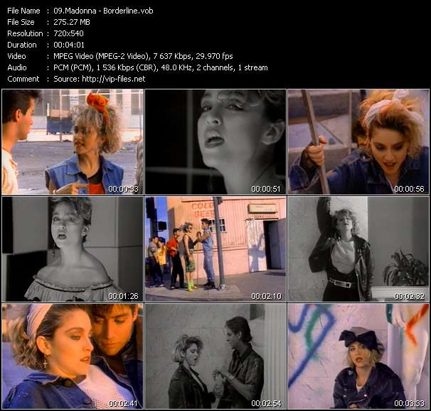 Madonna video - Borderline