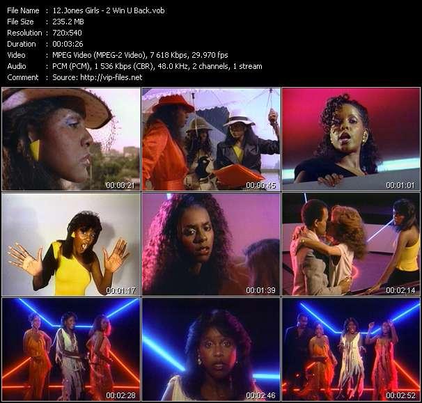 Jones Girls video - 2 Win U Back