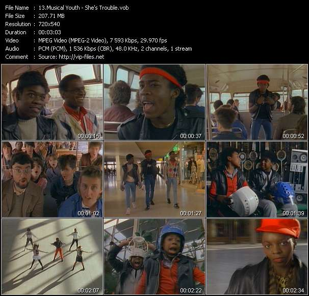 Musical Youth video - She's Trouble