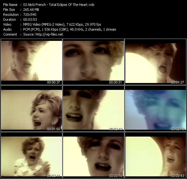 Nicki French video - Total Eclipse Of The Heart