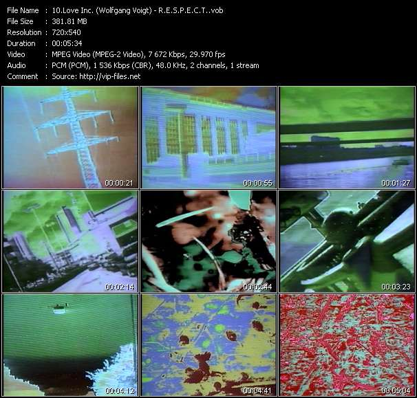 Love Inc. (Wolfgang Voigt) video - R.E.S.P.E.C.T.