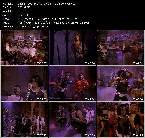 Bar Kays video - Freakshow On The Dance Floor