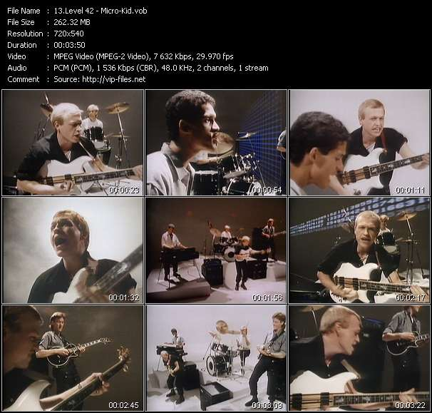 Level 42 video - Micro-Kid