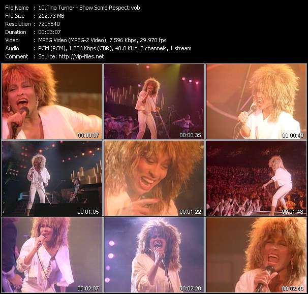 Tina Turner HQ Videoclip «Show Some Respect»