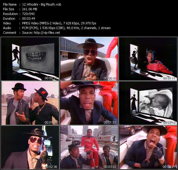 Whodini HQ Videoclip «Big Mouth»