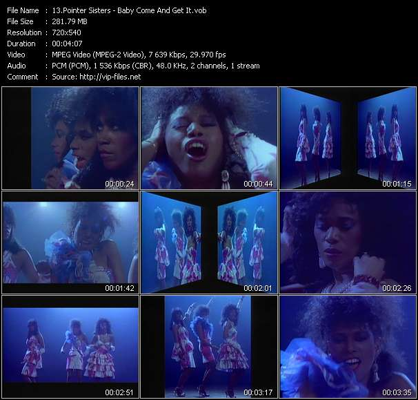 Pointer Sisters HQ Videoclip «Baby Come And Get It»