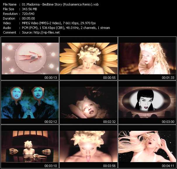Madonna video - Bedtime Story (Rockamerica Remix)