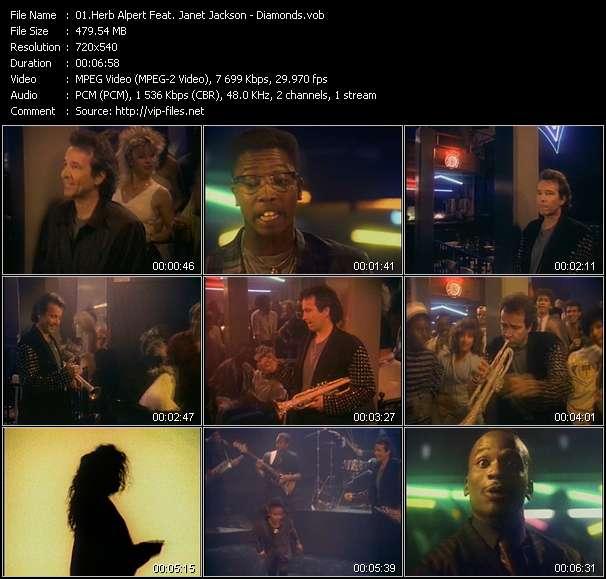 Herb Alpert Feat. Janet Jackson video - Diamonds