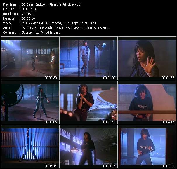 Janet Jackson video - Pleasure Principle