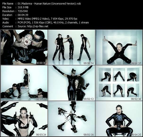 Madonna video - Human Nature (Uncensored Version)