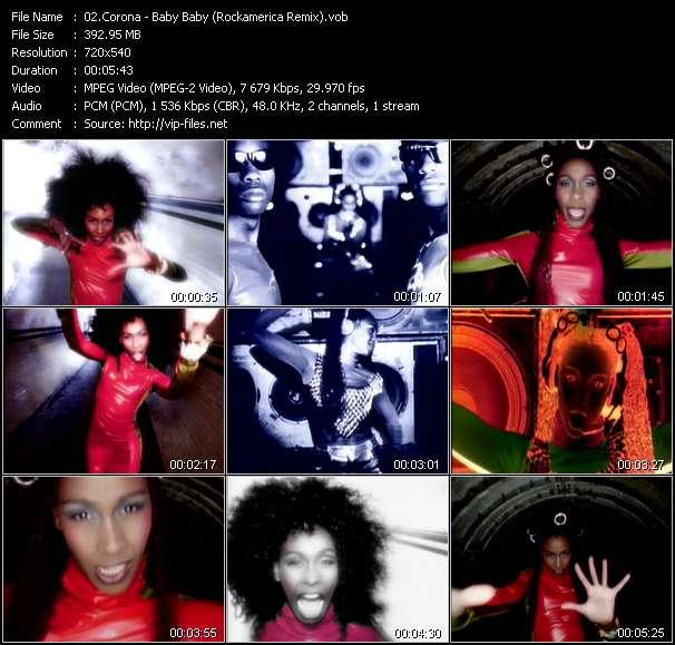 Corona HQ Videoclip «Baby Baby (Rockamerica Remix)»