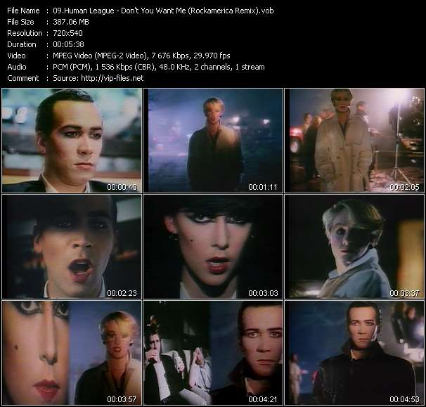 Human League video - Don't You Want Me (Rockamerica Remix)