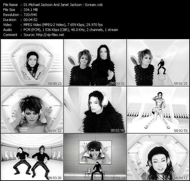 Michael Jackson And Janet Jackson HQ Videoclip «Scream»