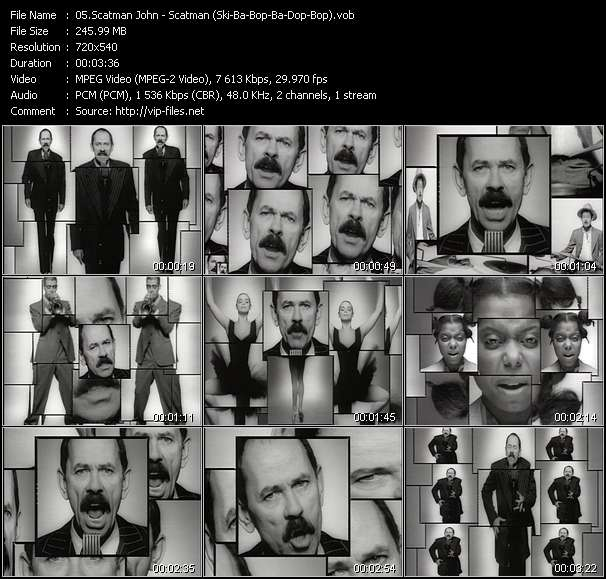 Scatman John video - Scatman (Ski-Ba-Bop-Ba-Dop-Bop)