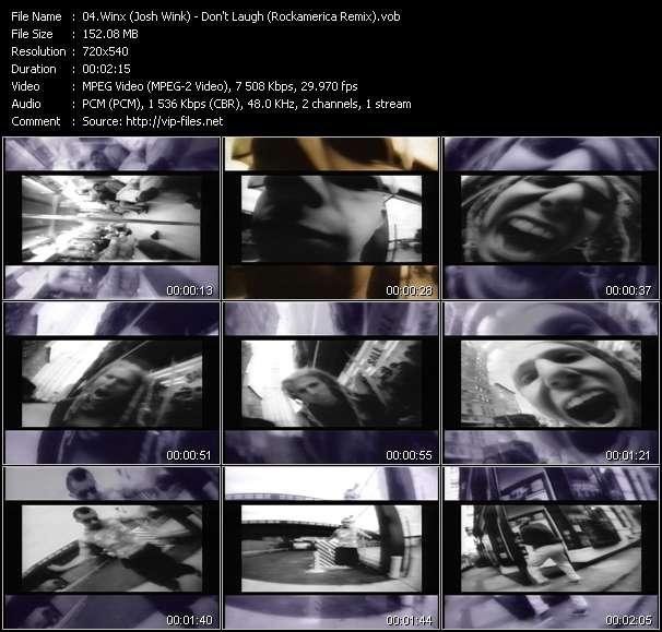 Winx (Josh Wink) HQ Videoclip «Don't Laugh (Rockamerica Remix)»