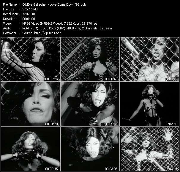 Eve Gallagher HQ Videoclip «Love Come Down '95»