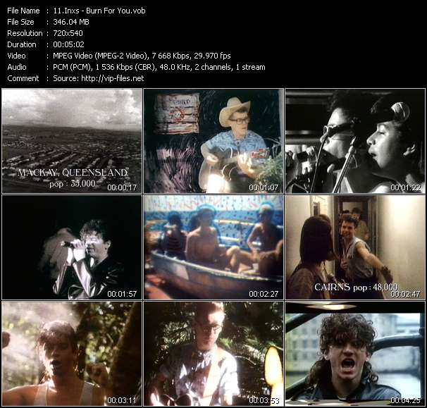 Inxs video - Burn For You