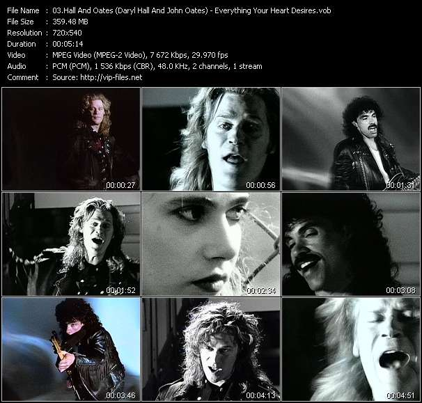 Hall And Oates (Daryl Hall And John Oates) video - Everything Your Heart Desires