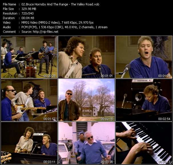 Bruce Hornsby And The Range HQ Videoclip «The Valley Road»