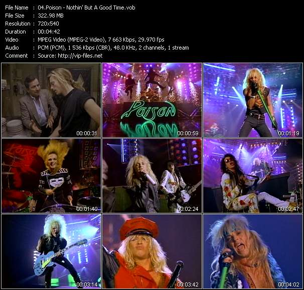 Poison HQ Videoclip «Nothin' But A Good Time»