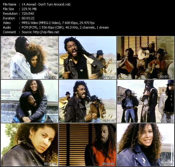 Aswad video - Don't Turn Around