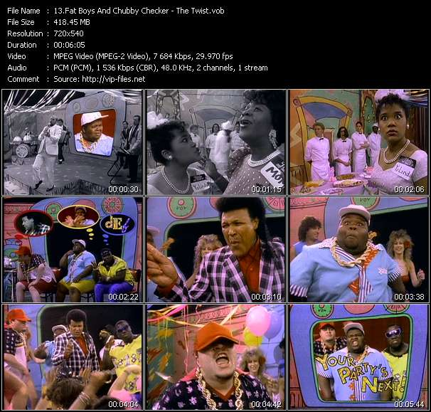 Fat Boys And Chubby Checker HQ Videoclip «The Twist»