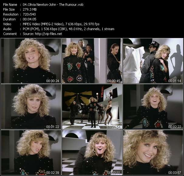Olivia Newton-John HQ Videoclip «The Rumour»