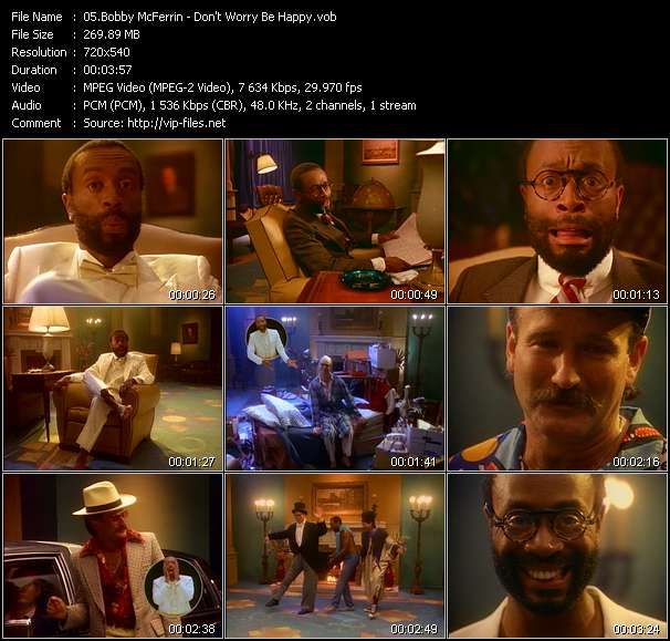 Bobby McFerrin HQ Videoclip «Don't Worry Be Happy»
