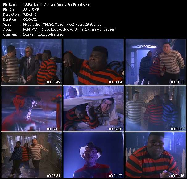 Fat Boys video - Are You Ready For Freddy