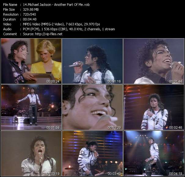 Michael Jackson video - Another Part Of Me