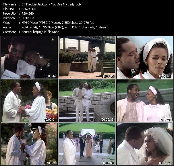 Freddie Jackson HQ Videoclip «You Are My Lady»