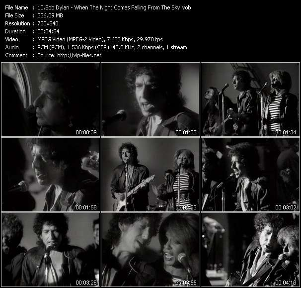 Bob Dylan HQ Videoclip «When The Night Comes Falling From The Sky»