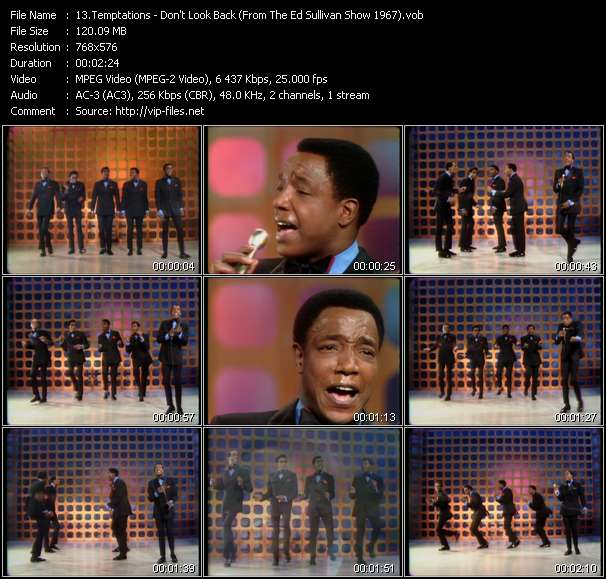 Temptations HQ Videoclip «Don't Look Back (From The Ed Sullivan Show 1967)»